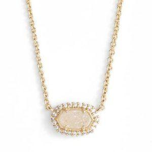 Kendra Scott Chelsea Dainty Necklace Druzy Gold